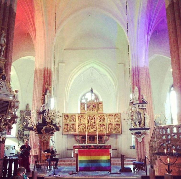 Regnbågsmässa i Domkyrkan